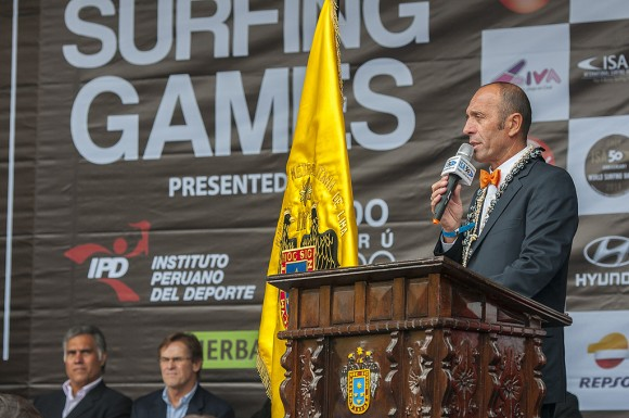 Fernando Aguerre, presidente de la International Surfing Association